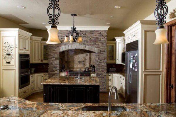 Thiết kế nội thất phòng bếp phong cách địa trung hải