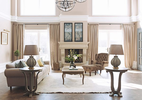 Thiết kế nội thất biệt thự phòng khách phong cách Pháp