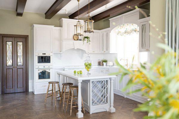 Thiết kế nội thất biệt thự phòng bếp phong cách Pháp