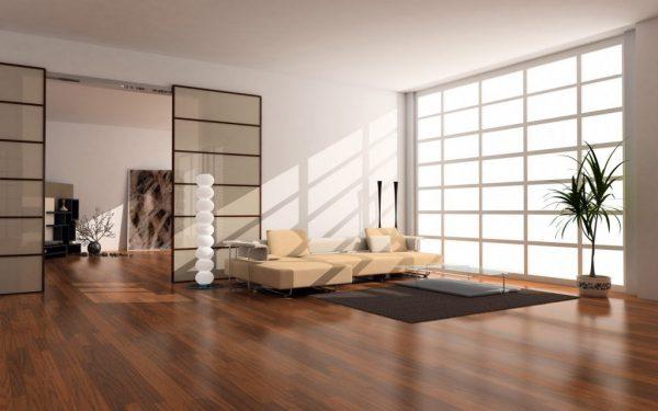 thiết kế nội thất phòng khách phong cách nhật nhỏ gọn