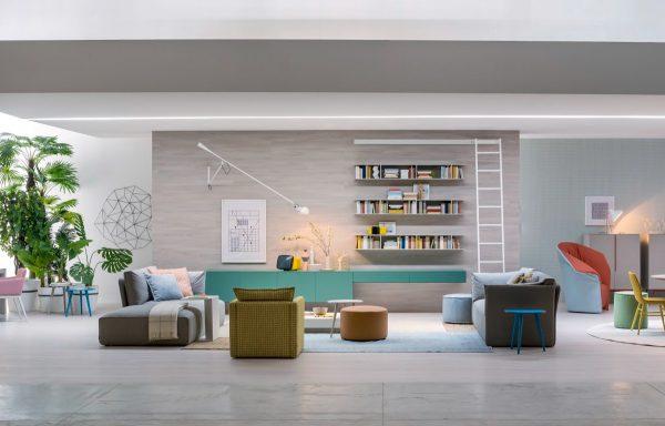 thiết kế nội thất phòng khách theo góc