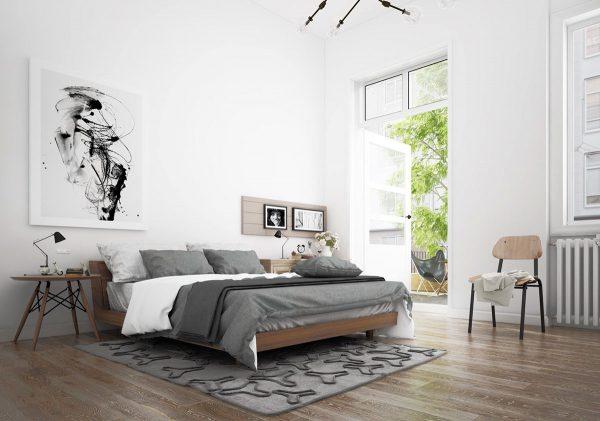 Thiết kế nội thất phòng ngủ phong cách Scandinavian đơn giản