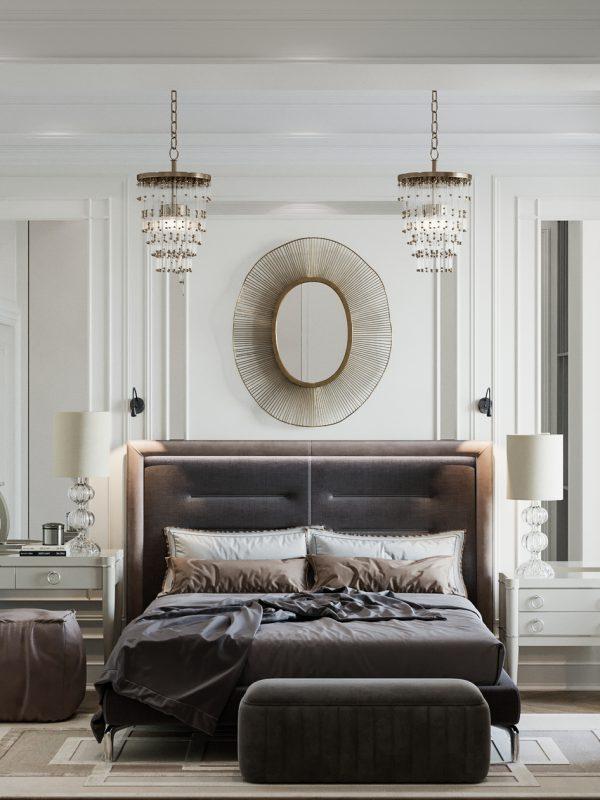 Phòng ngủ thiết kế theo phong cách tân cổ điển