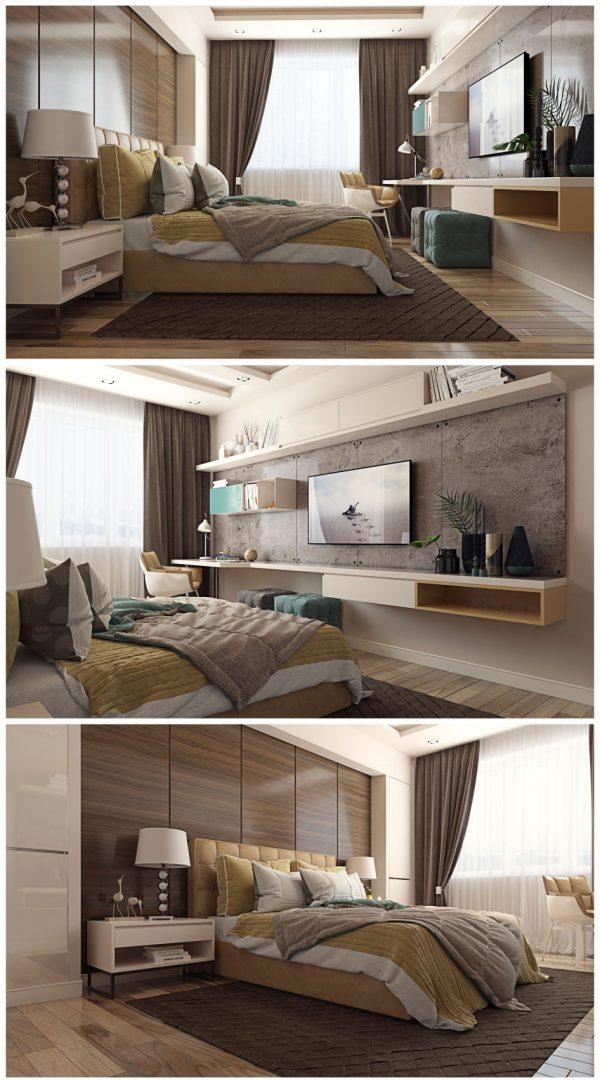 thiết kế nội thất phòng ngủ phong cách đương đại