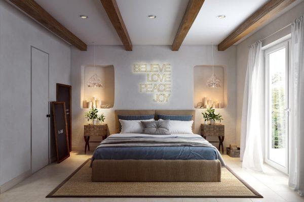 thiết kế nội thất phòng ngủ phong cách đương đại đơn giản