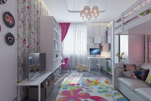 Nội thất phòng ngủ cho trẻ phong cách màu hồng