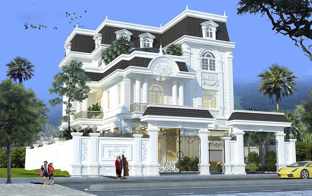Thiết kế biệt thự 3 tầng phải đảm bảo phong thủy