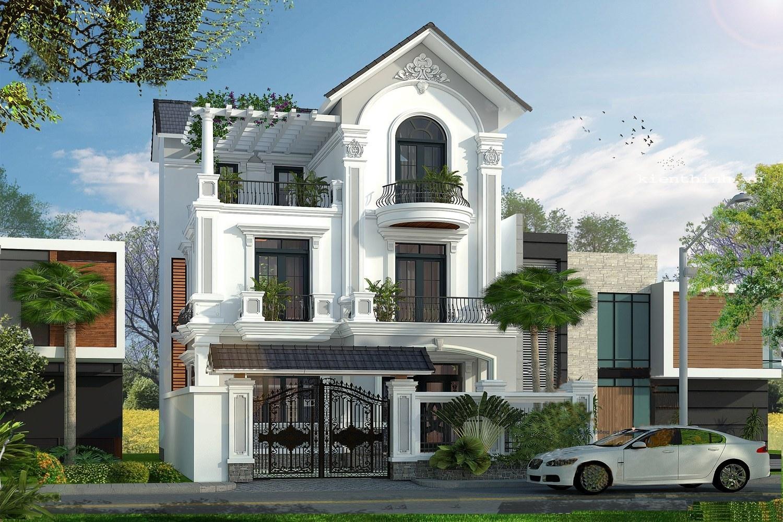 Mẫu thiết kế nhà 3 tầng phong cách tân cổ điển