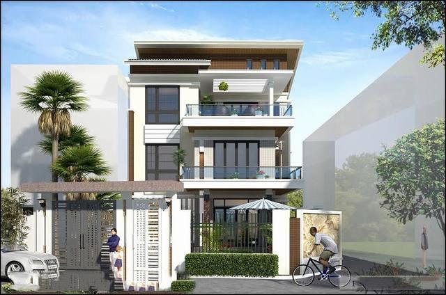 Mẫu thiết kế nhà 3 tầng kiến trúc hiện đại