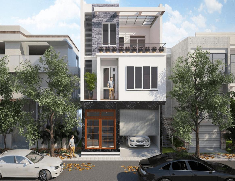 Một mẫu nhà phố 3 tầng chắc chắn, khỏe khoắn