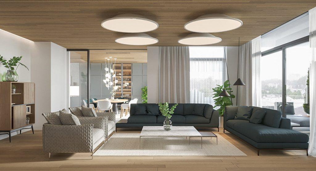 Phong cách nội thất hiện đại ưa chuộng những gam màu nhã nhặn trung tính