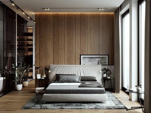 Phong cách thiết kế nội thất hiện đại, đơn giản với nhiều vật liệu mới