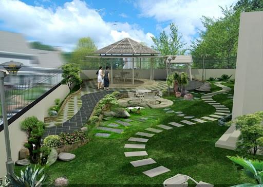Thiết kế cảnh quan sân vườn bắt mắt