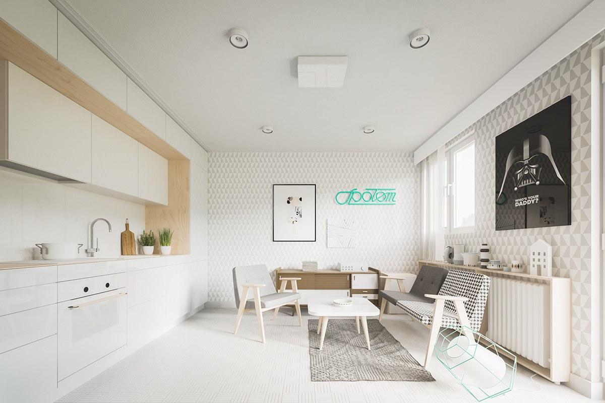 Mẫu thiết kế nội thất nữ tính tinh tế và nhẹ nhàng