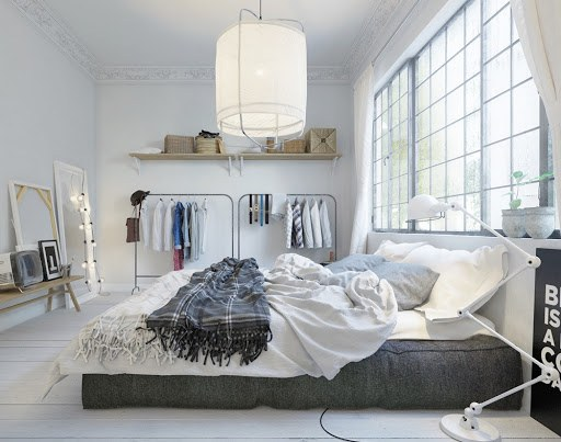 cách trang trí phòng ngủ không có giường