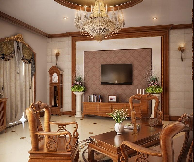 ĐẲNG CẤP và SANG TRỌNG hơn khi trang trí phòng khách bằng đồ gỗ
