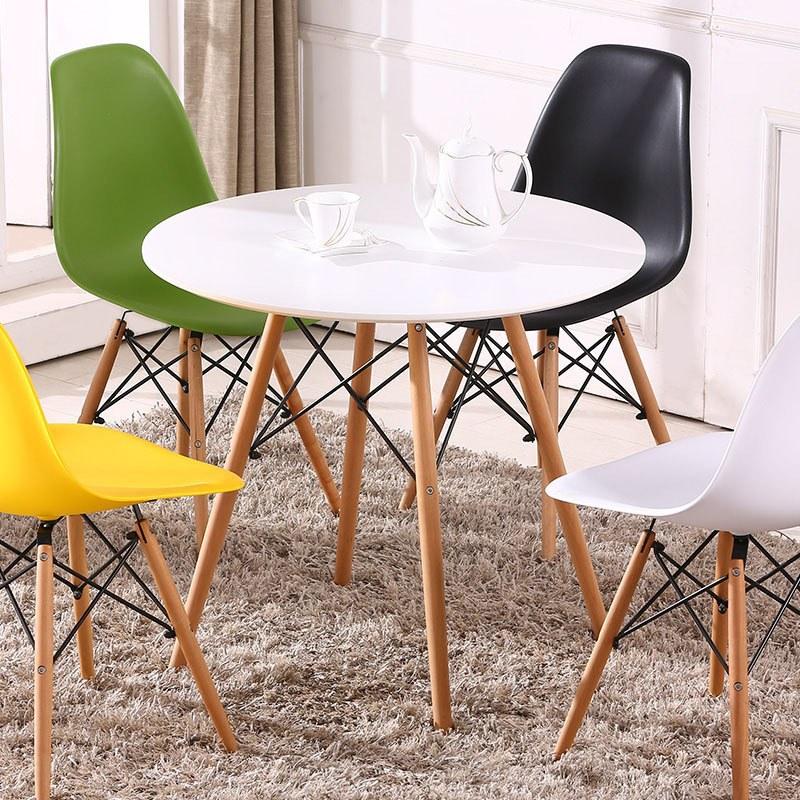 Mẫu bàn tròn cafe hiện đại