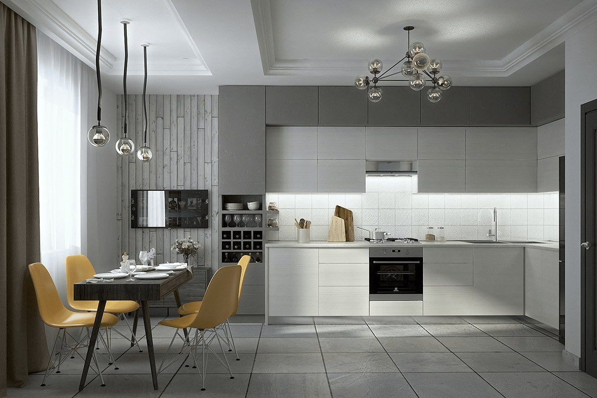 Mẫu nhà bếp đẹp đơn giản