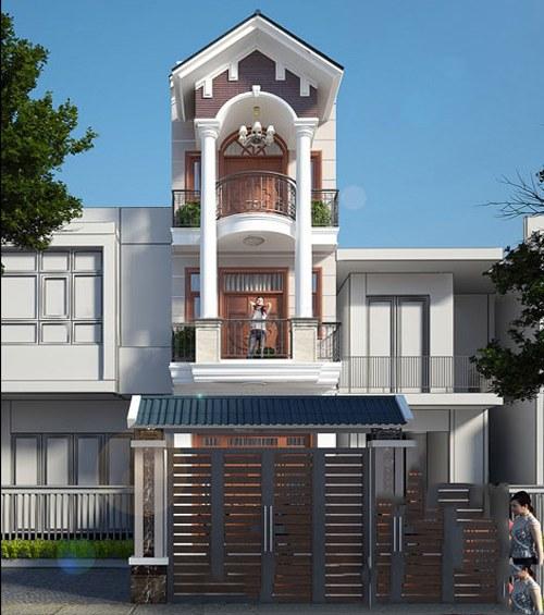Mẫu nhà phố mái ngói đẹp