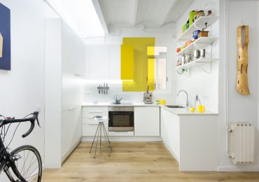 Mẫu nội thất phòng bếp chung cư hình chữ L