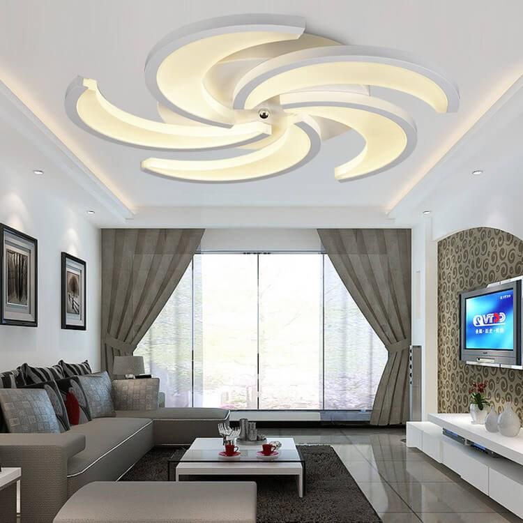 Mẫu trần thạch cao phòng khách hiện đại