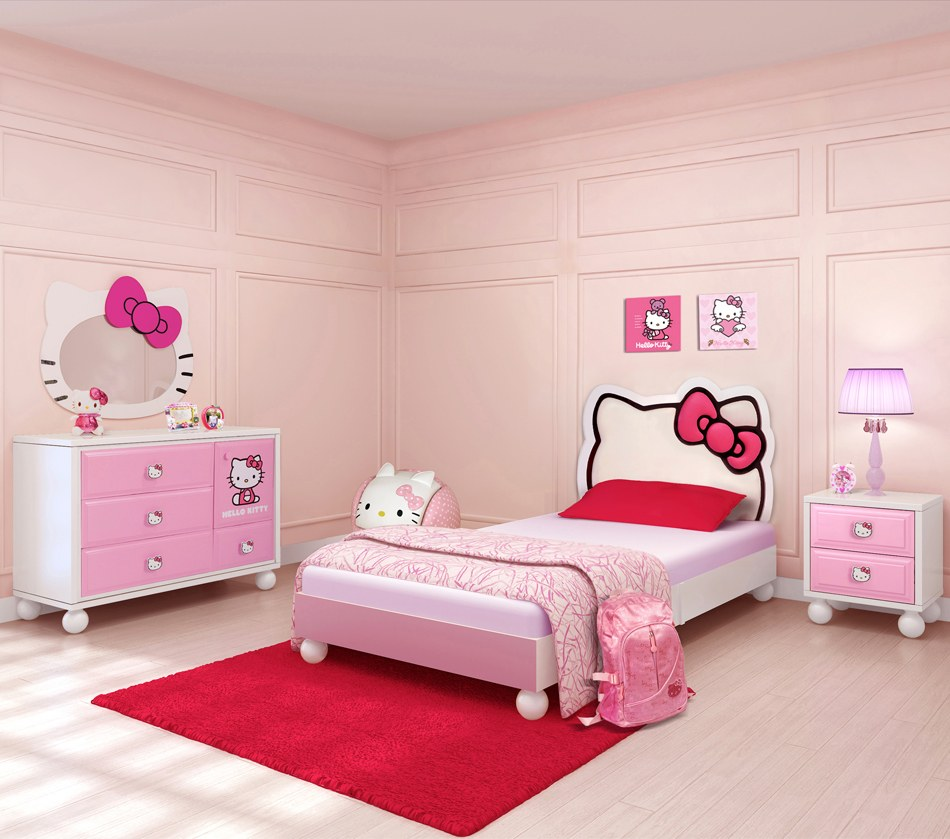 nội thất phòng ngủ Hello Kitty
