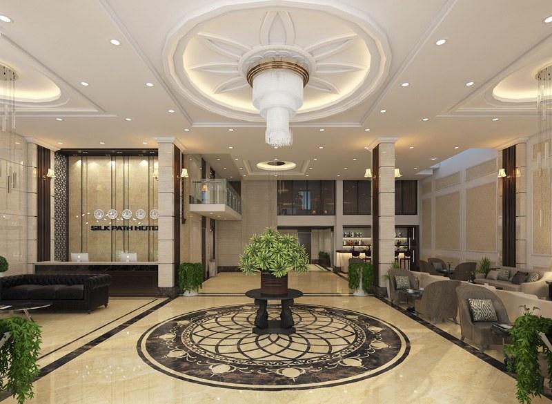 Sảnh khách sạn đẹp và sang trọng