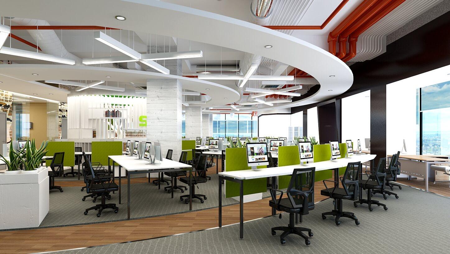 Vật liệu trong nội thất văn phòng thường sử dụng gỗ công nghiệp