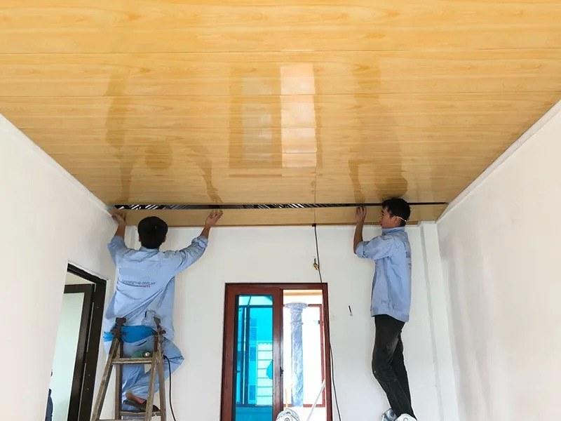 Xác định chính xác vị trí lắp đặt trần nhựa và độ cao trần
