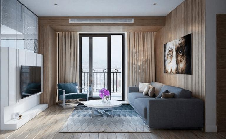 Cách trang trí phòng khách nhà vuông chung cư