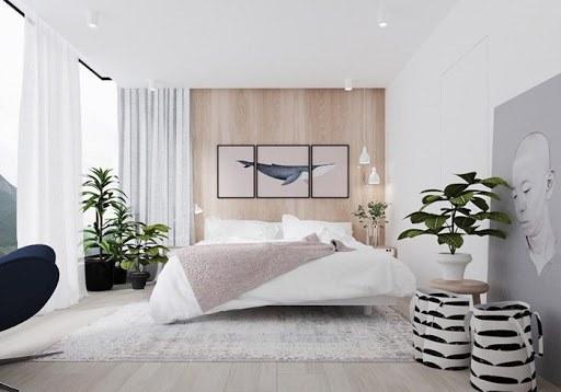Decor phòng ngủ bằng tiểu cảnh xanh