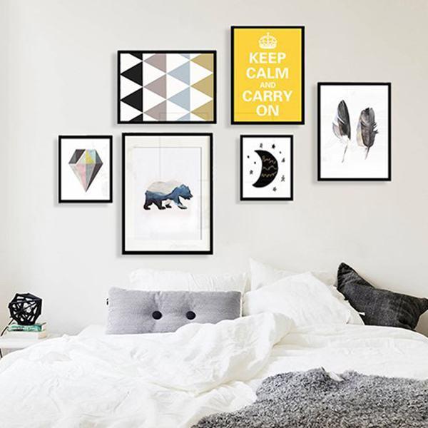 Decor phòng ngủ bằng tranh treo tường