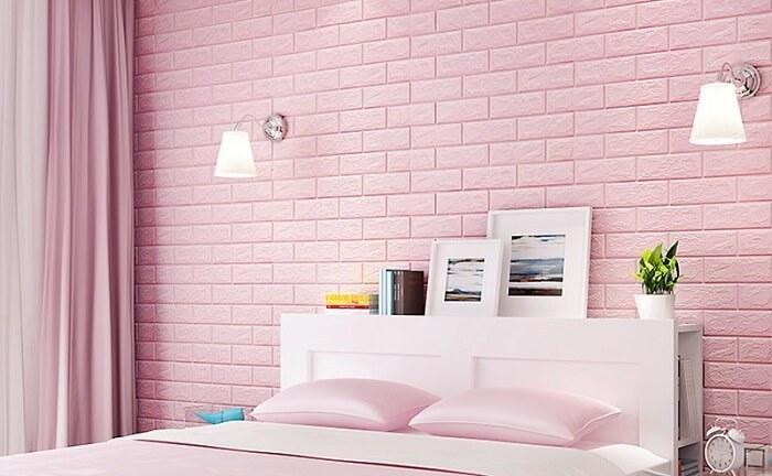 Decor phòng ngủ bằng xốp dán tường