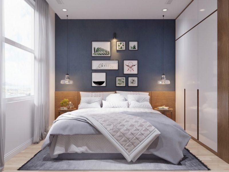 Mẫu nội thất phòng ngủ chung cư hiện đại