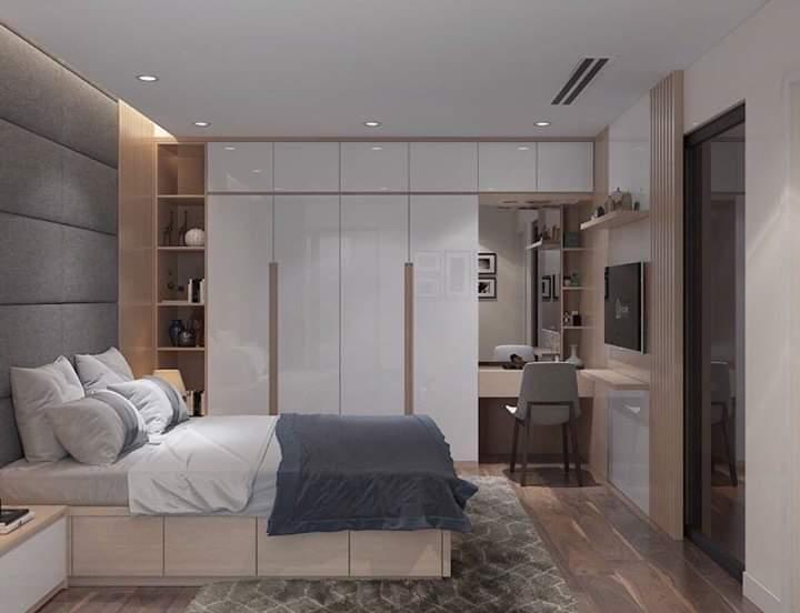 Mẫu nội thất phòng ngủ gỗ công nghiệp