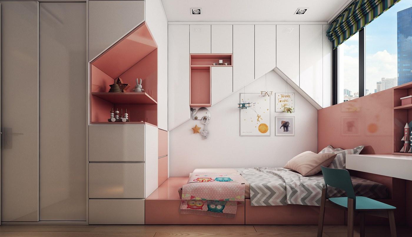 Mẫu thiết kế nội thất chung cư 68m2
