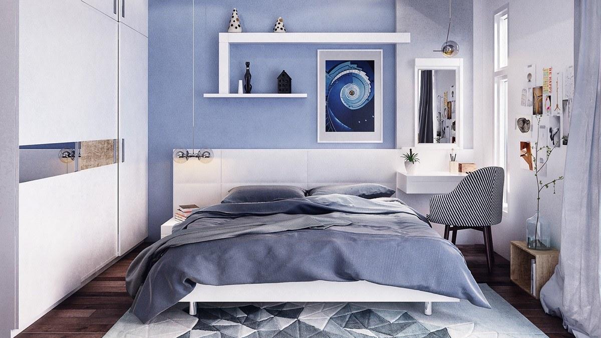 Mẫu thiết kế nội thất phòng ngủ 14m2