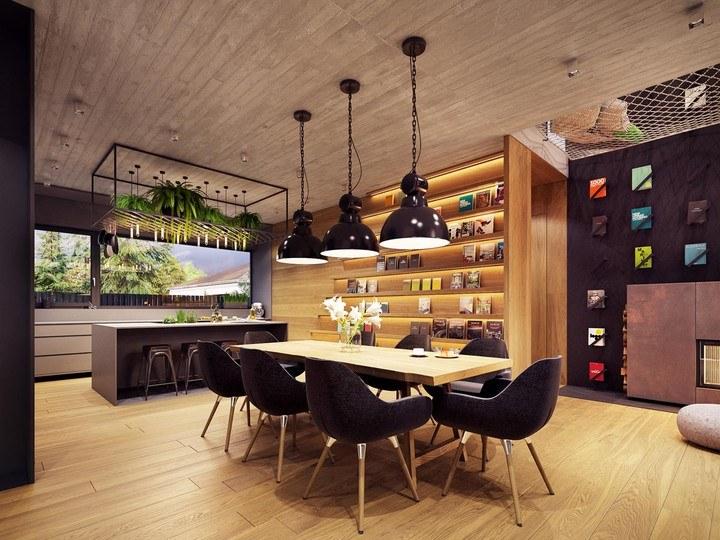 Nội thất phòng ăn nhà bếp hiện đại