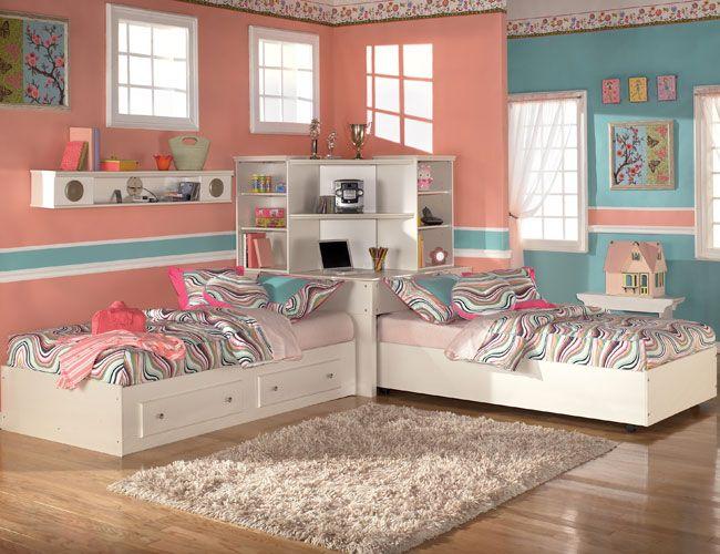 nội thất phòng ngủ cho 2 bé gái