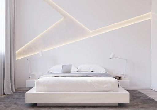 nội thất phòng ngủ trắng