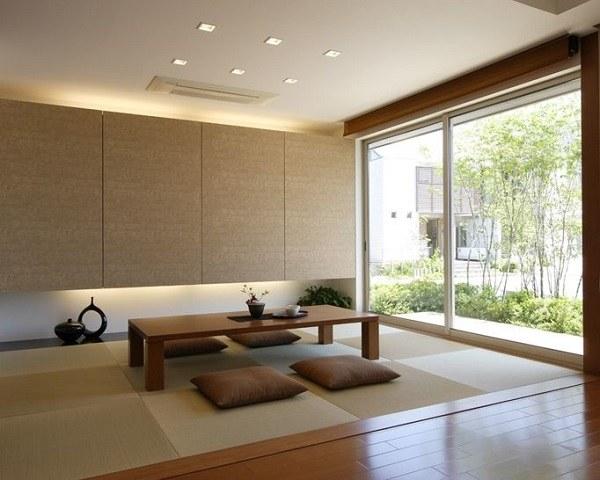 phòng khách kiểu Nhật