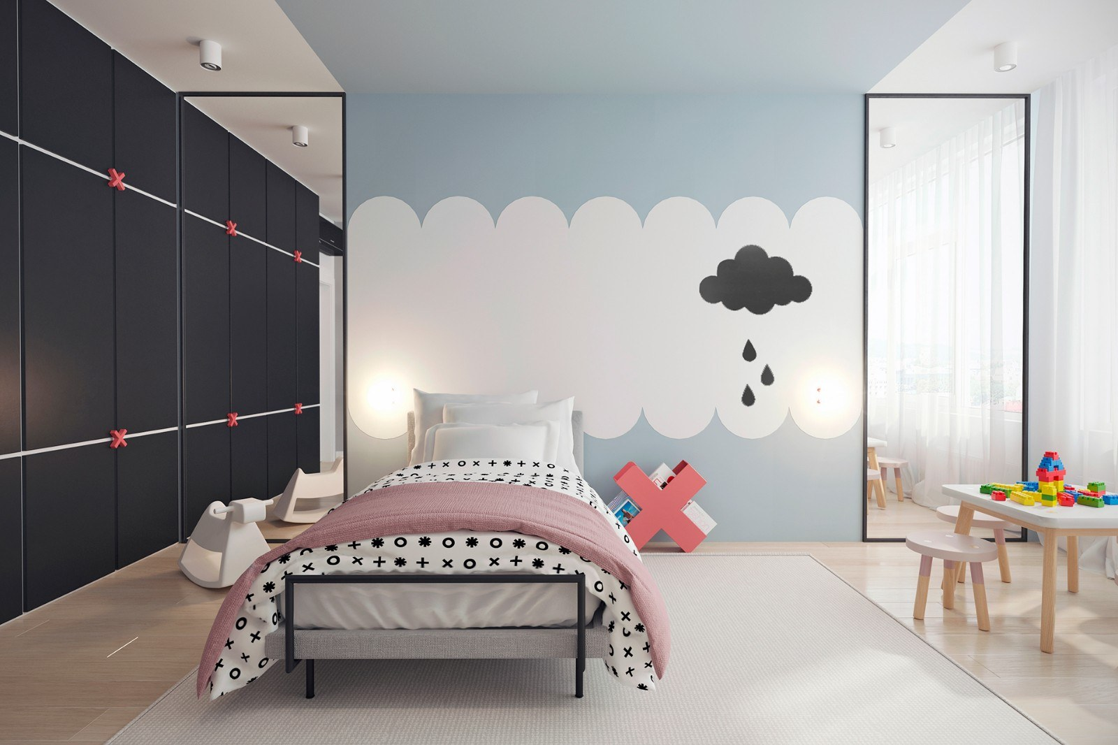 thiết kế nội thất chung cư 50m2 2 phòng ngủ