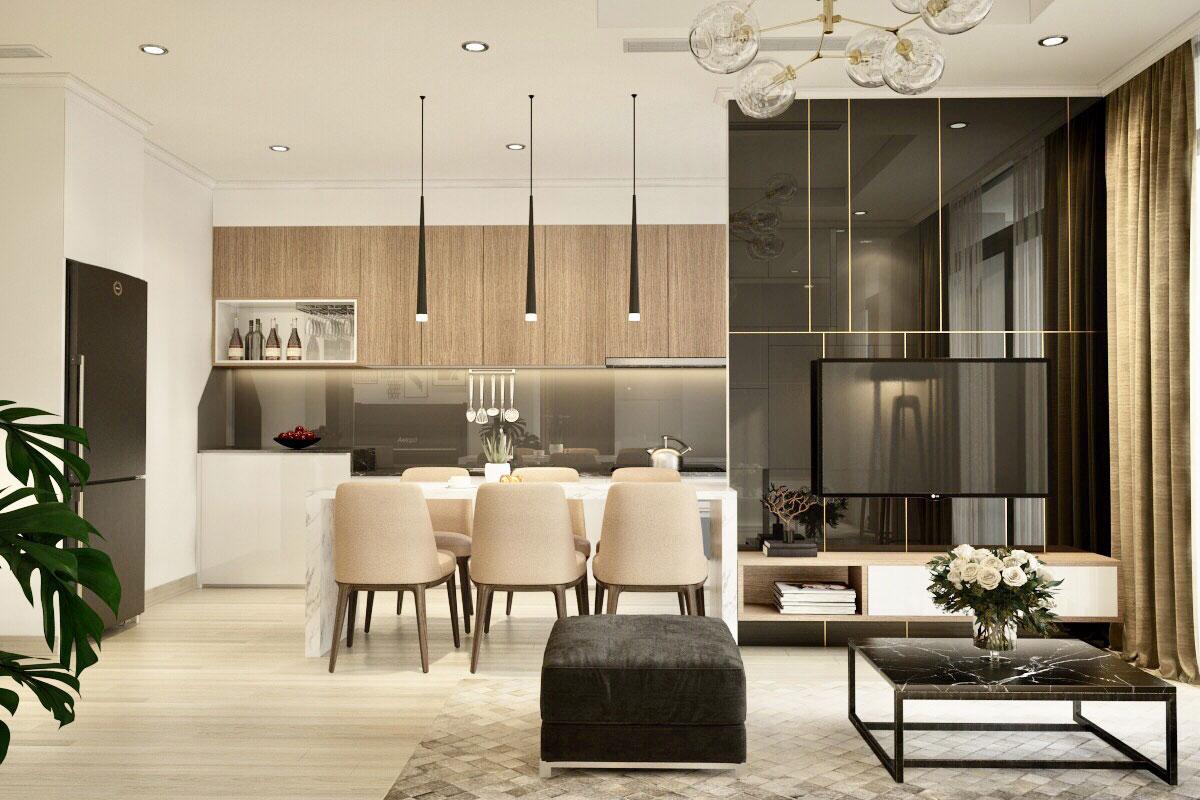 Thiết kế nội thất chung cư 60m2 đẹp
