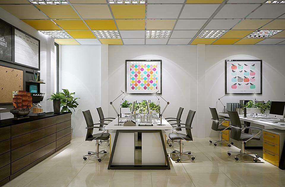 Kết hợp yếu tố nghệ thuật, phù hợp cho văn phòng công ty giải trí, thời trang, marketing