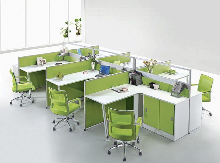 Bố trí các khu làm việc tập trung thông qua việc kê úp sát các mặt bàn với nhau