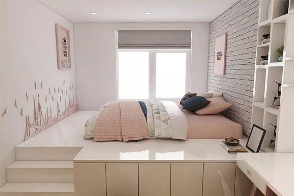 Thiết kế nội thất phong ngủ nhỏ 10m2