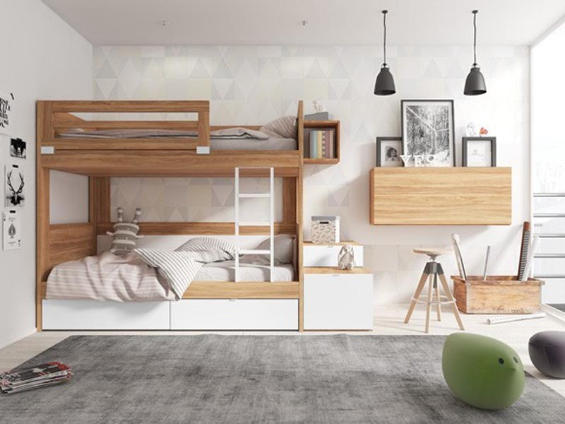 Sử dụng giường tầng dành cho căn phòng có 2 người