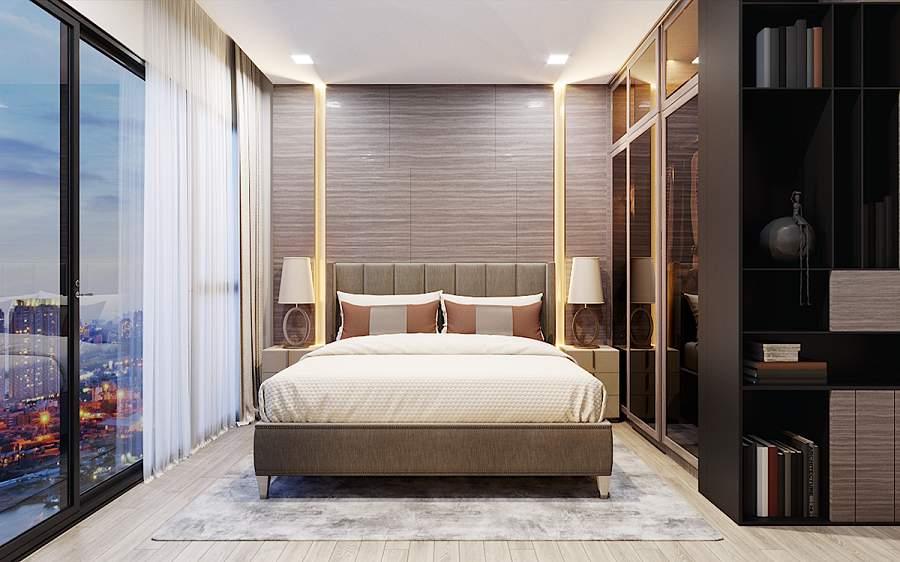 Mẫu nội thất chung cư 69m2 2 phòng ngủ