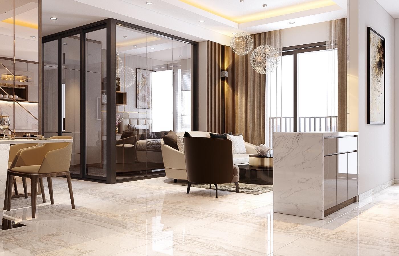 Mẫu thiết kế nội thất căn hộ 86m2