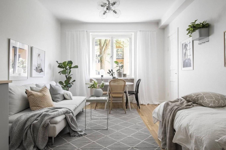 Mẫu thiết kế nội thất chung cư 1 phòng ngủ